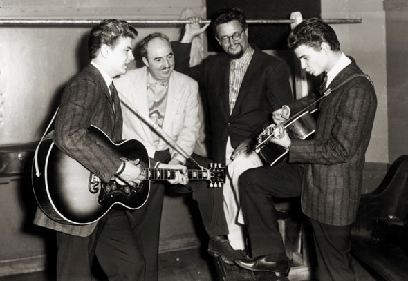 Phil Everly, Wesley Rose, Boudleaux Bryant, Don Everly
