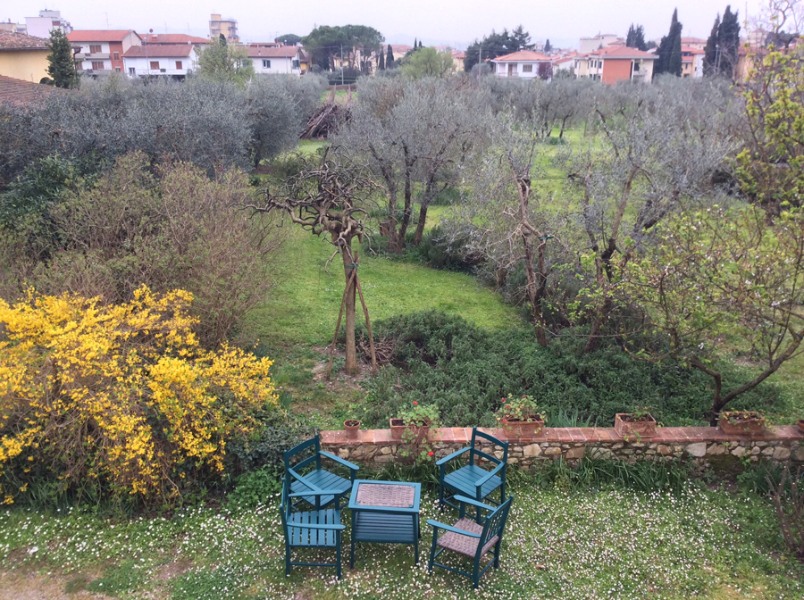 A View of the Gardens From An Apartment Balcony