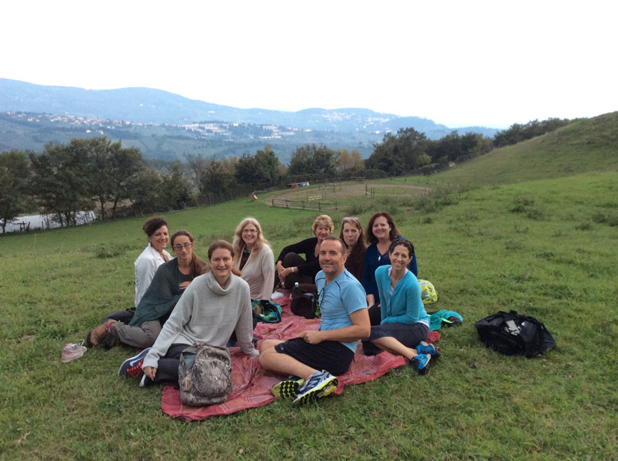 Picnic after a hike to Cercina