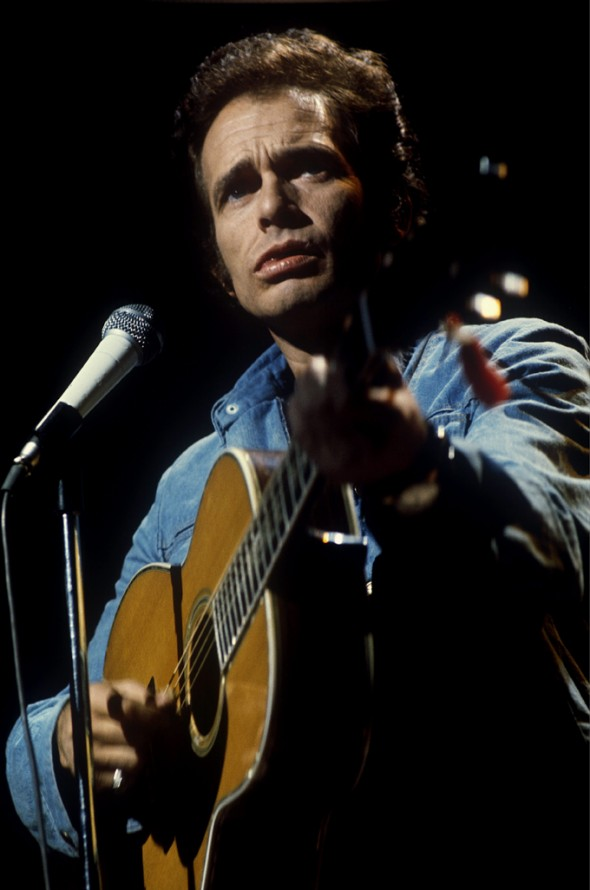 Merle Haggard performing in Los Angeles, CA in 1976. © Andrew Kent / Retna Ltd.